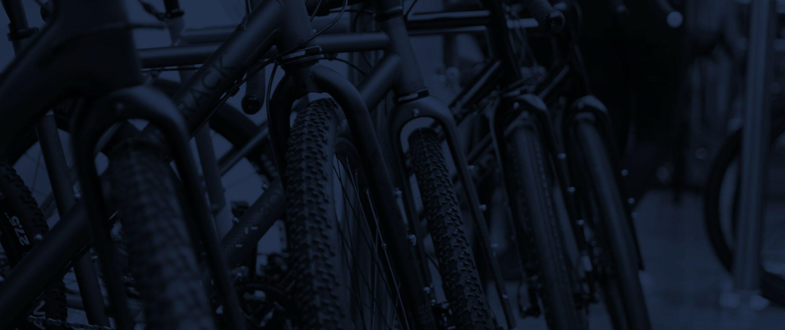 Detailaufnahme von Fahrrädern
